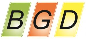Bild zeigt das Logo der Werbemittelproduktion und -dienstleistungsfirm BGD.
