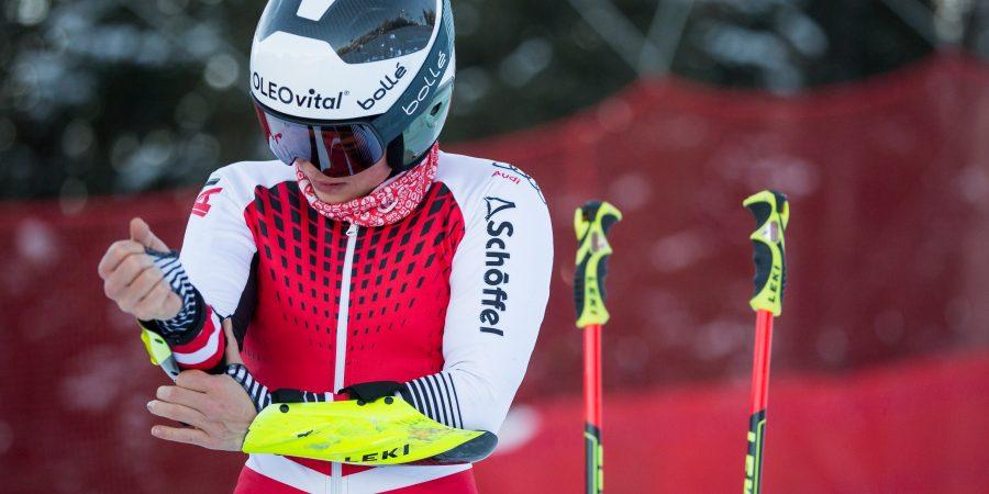 Julia Scheib in Vorbereitung auf ein Rennen