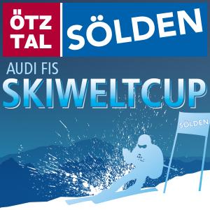 Bild zeigt die Grafik des Ski Alpin FIS Skiweltcup im österreichischen Sölden.