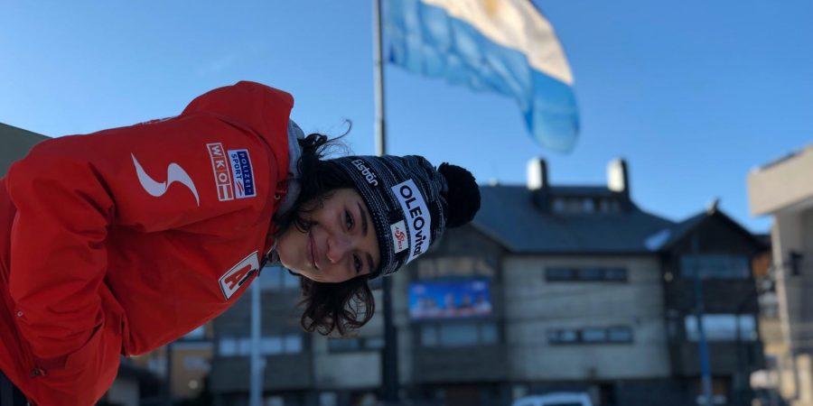 Bild zeigt die ÖSV-Dame Julia Scheib in Ushuaia in Argentinien.